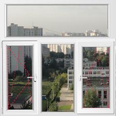 Цена Т-образного окна ПВХ