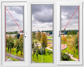 Цена трехстворчатого окна ПВХ